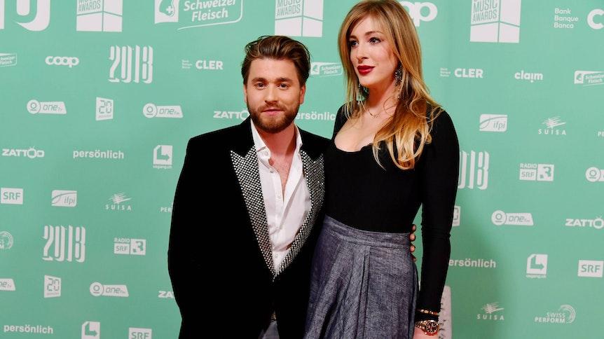 Alana Netzer (r.) und Freund Baschi bei den Swiss Music Awards am 09.02.2018 in Zürich.