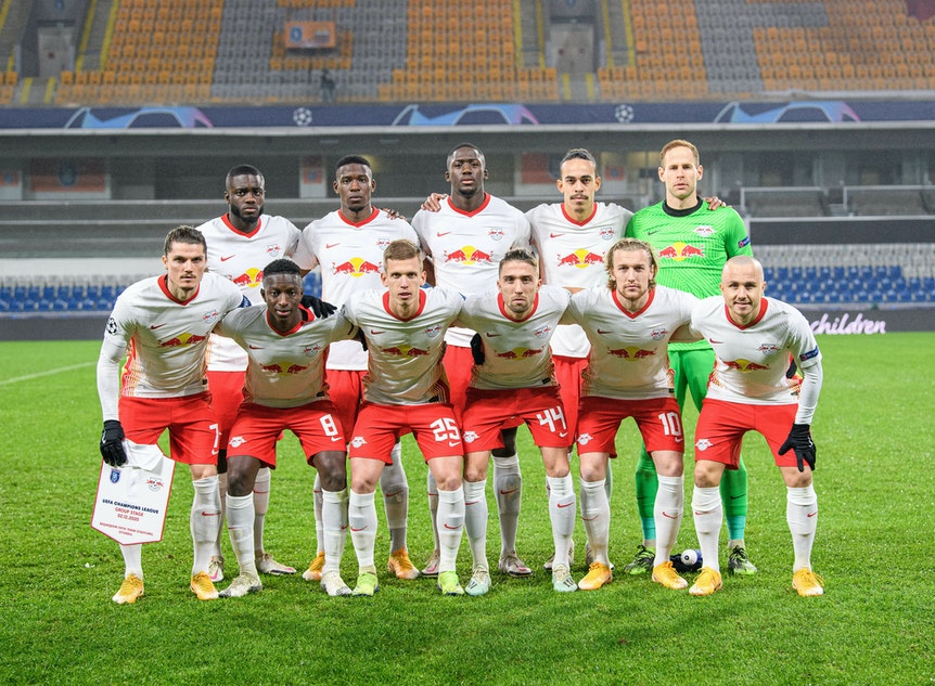 Die Elf von RB Leipzig vorm Champions-League-Spiel gegen Baseksehir Anfang Dezember.