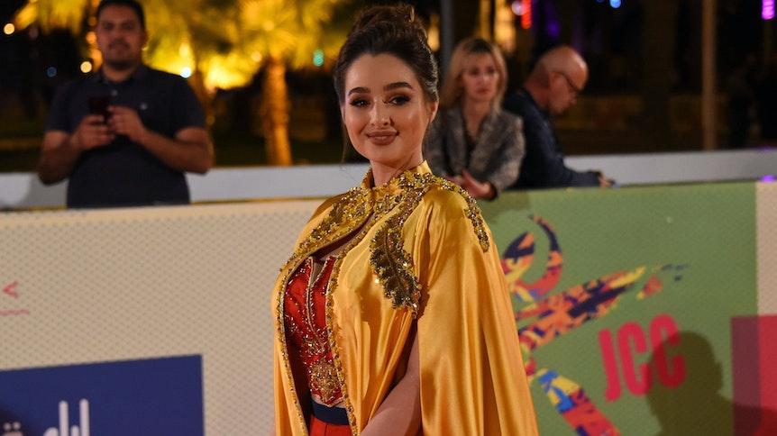 """Ahlem Fekih im Oktober 2019 bei der Eröffnungsfeier des """"Carthage Film Festivals"""" in Tunis."""