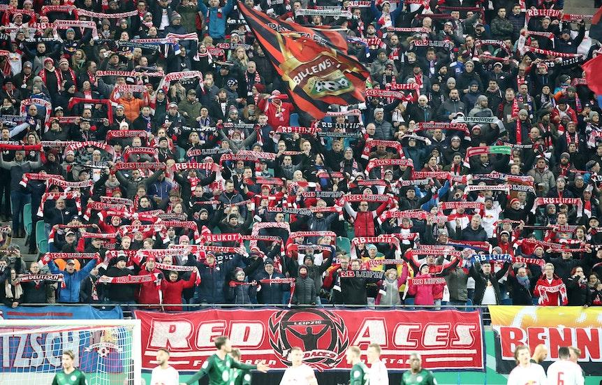Das Banner der Red Aces wird man im Fablock bei RB Leipzig nicht mehr sehen.