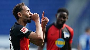 Matheus Cunha traf drei Mal für Hertha und bekommt in Kürze einen Sohn.