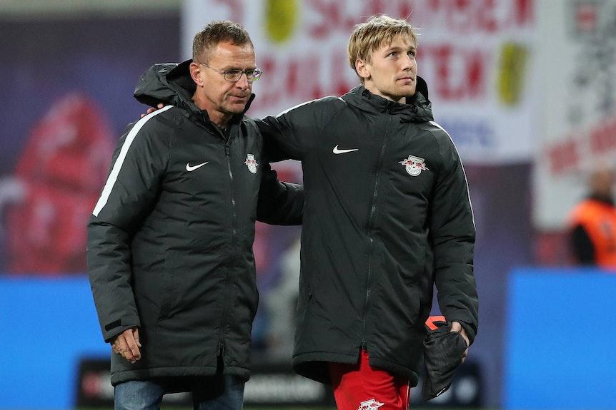 Emil und sein Meister: Ralf Rangnick hat Forsberg nach Leipzig geholt