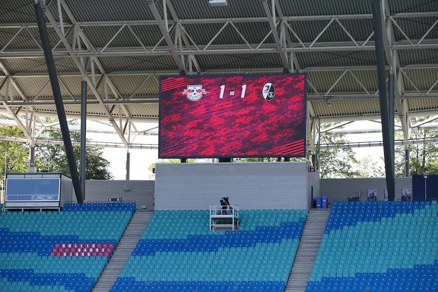 RB Leipzig konnte das erste Geisterspiel in der Red Bull Arena nicht gewinnen.