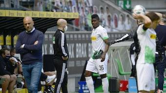 Breel Embolo kann nach seiner Wadenprellung aus dem Spiel gegen Bayer 04 Leverkusen noch nicht wieder trainieren.