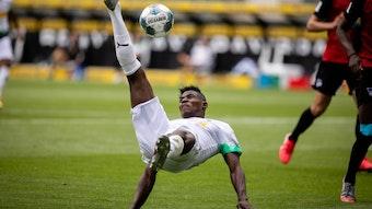 Nach seiner dreiwöchigen Verletzungspause war Breel Embolo bei Borussia Mönchengladbach der Stürmer, auf den es ankam.