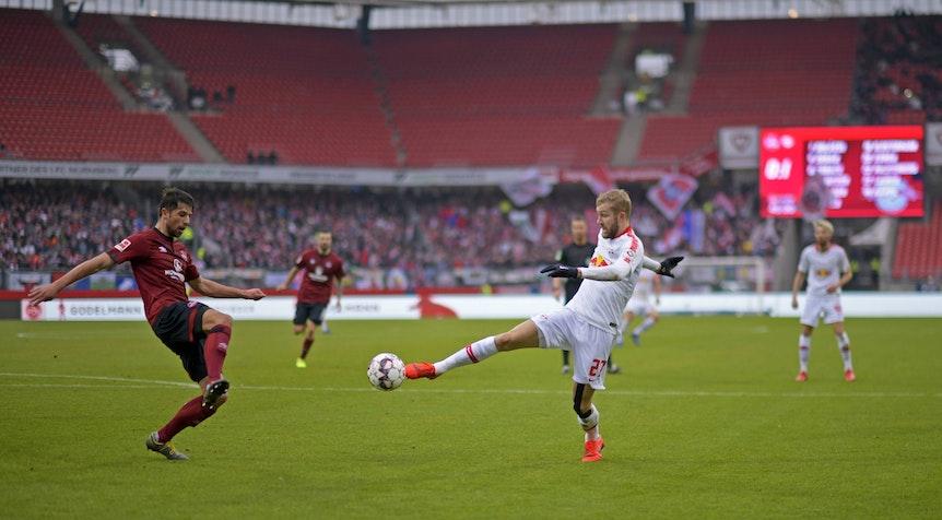 RB Leipzig trifft im DFB-Pokal auf den 1. FC Nürnberg.