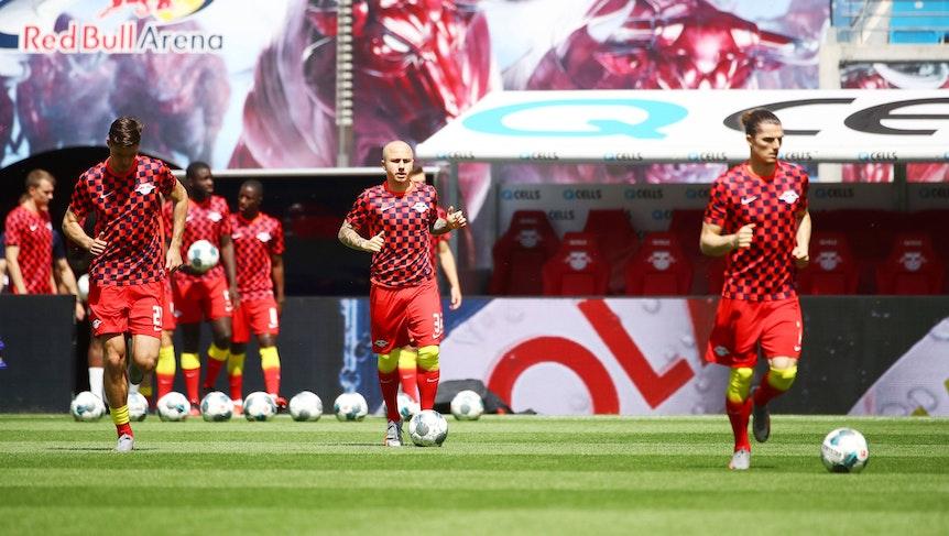Auch 2020/21 im RB-Dress? Angeliño (Mitte) und Patrik Schick (links).