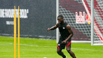 Individuelles Training: Brian Brobbey.