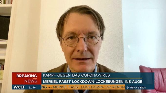 SPD-Politiker Karl Lauterbach im Interview bei WELT.