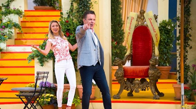 """""""Immer wieder Sonntags"""" mit Stefan Mross und seiner Frau Anna-Carina am 3. September 2020 aus dem Europa-Park in Rust."""