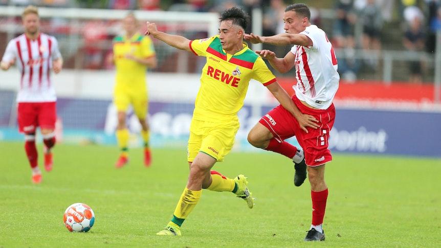 Jens Castrop spielt für den 1. FC Köln gegen Fortuna Köln.