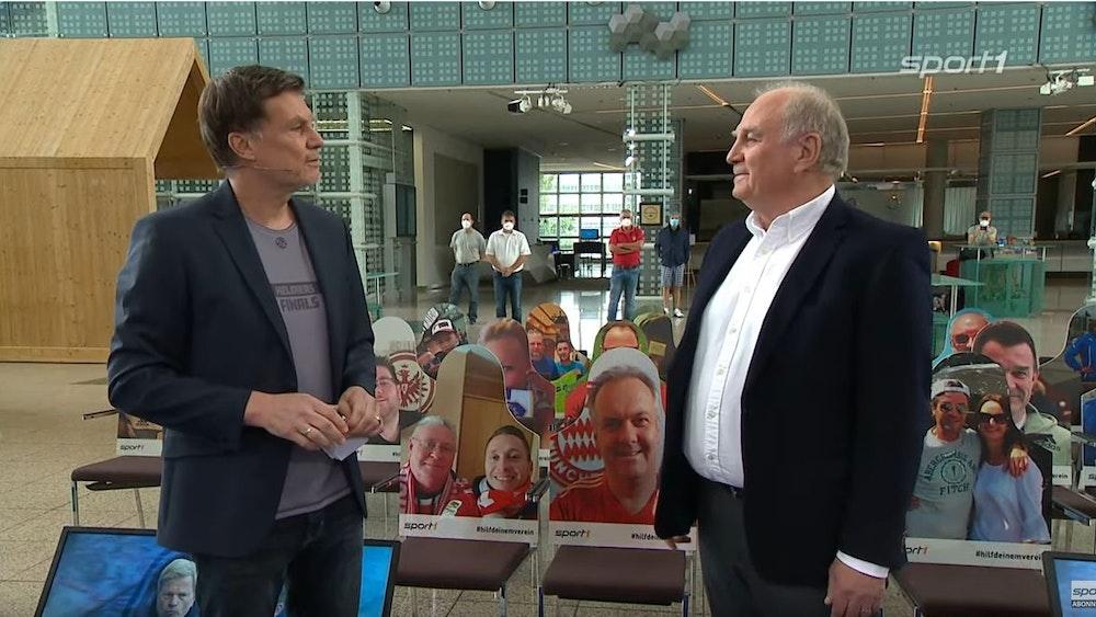 Uli Hoeneß zu Gast im Doppelpass von Sport1 bei Thomas Helmer.