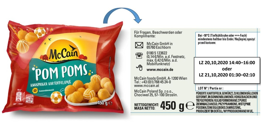 """""""Pom Poms"""" werden von McCain zurückgerufen."""