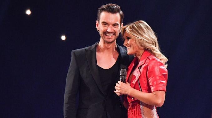 """Helene Fischer und Florian Silbereisen während der Sendung """"Schlagerchampions - Das große Fest der Besten"""" in Berlin."""