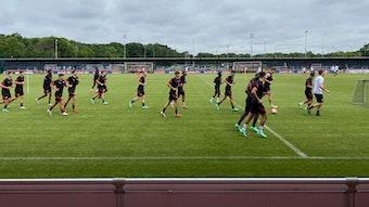 RB Leipzig trainierte am Mittwoch öffentlich.
