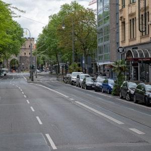 Aachener Straße in Köln mit Blick in Richtung Rudolfplatz.