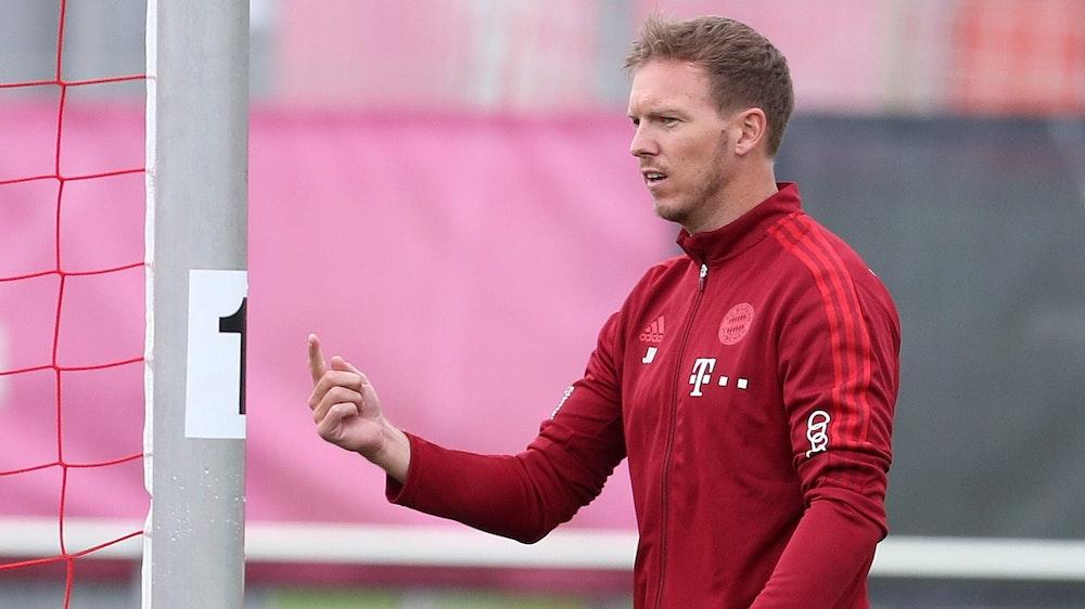 Julian Nagelsmann am 7. Juli in seiner ersten Trainingseinheit beim FC Bayern.