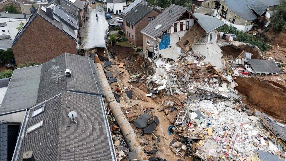 Den Stadtteil Blessem in Erftstadt hat es besonders heftig erwischt (Foto vom 16. Juli 2021).