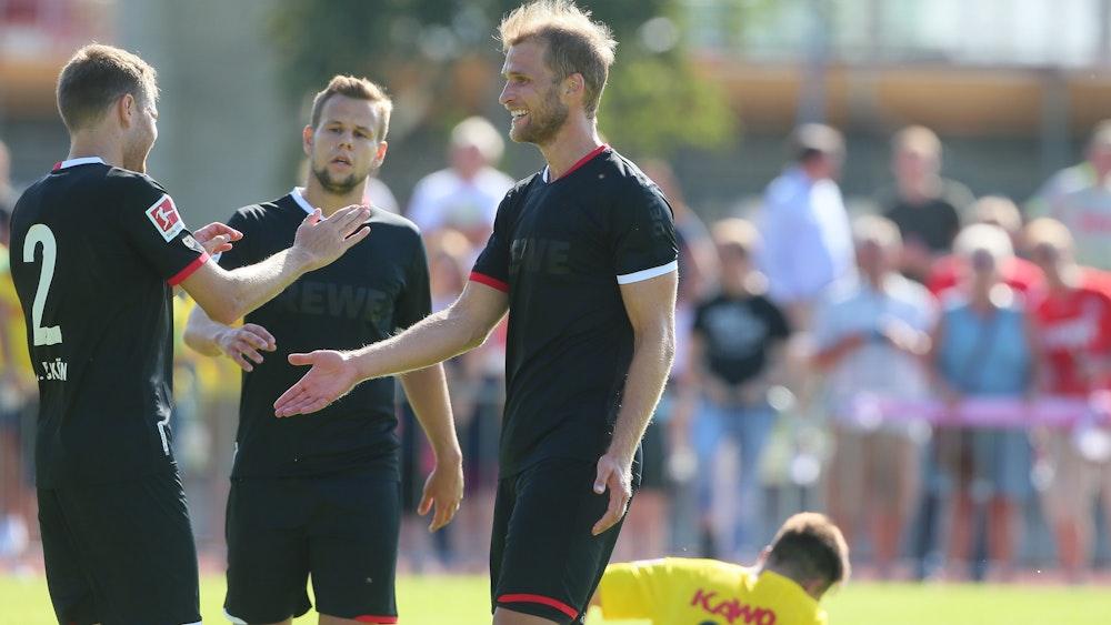 Sebastian Andersson trifft für den 1. FC Köln gegen den FC Schaffhausen.