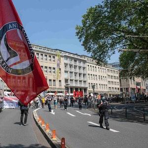 Demo am Neumarkt in Köln gegen das geplante Versammlungsgesetz NRW.