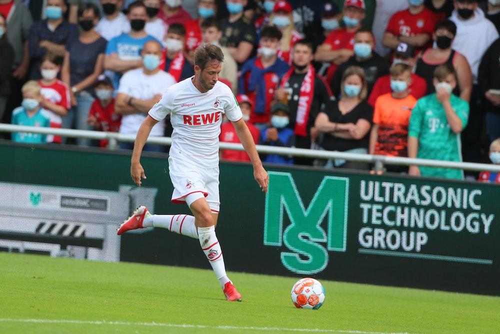 Mark Uth spielt für den 1. FC Köln gegen den FC Bayern München.