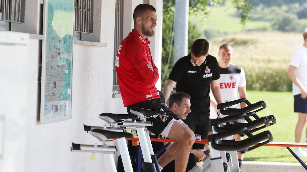 Dominick Drexler im Trainingslager des 1. FC Köln in Donaueschingen