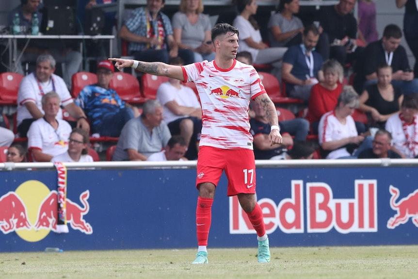 Dominik Szoboszlai kann endlich für RB Leipzig auflaufen.