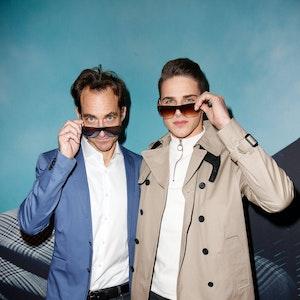 Tim Lobinger mit Sohn Lex-Tyger Lobinger auf dem Roten Teppich bei der Rodenstock Eye Wear Show im Isarforum in München.