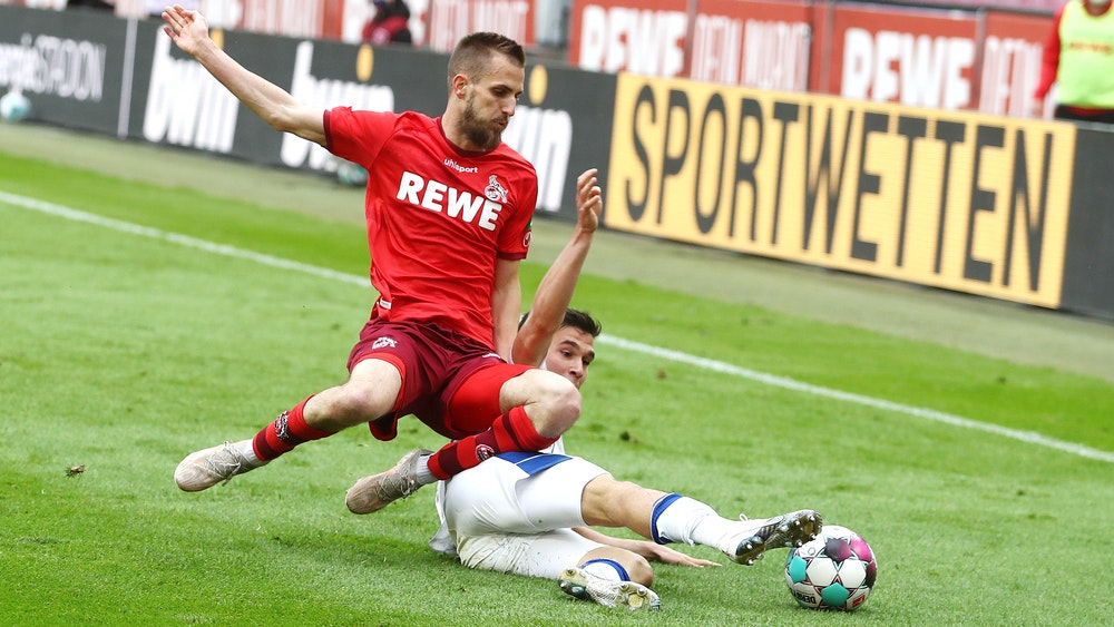 Dominick Drexler spielt für den 1. FC Köln gegen den FC Schalke 04.