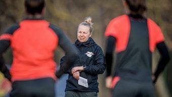 RB Leipzigs Trainerin Katja Greulich.