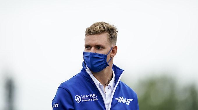 Mick Schumacher, Haas-Pilot, vor dem Grand Prix von Großbritannien.