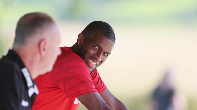 Anthony Modeste trainiert mit dem 1. FC Köln in Donaueschingen.