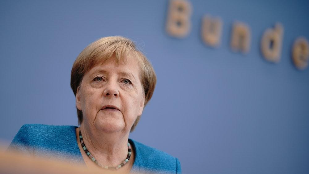 Angela Merkel będzie na federalnej konferencji prasowej 28 sierpnia 2020 r.
