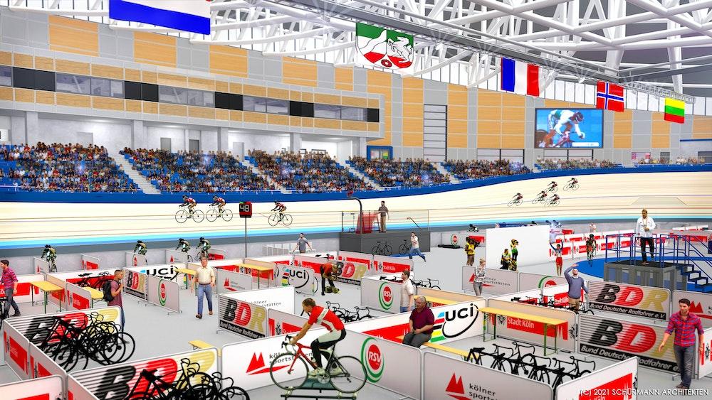 Der Innenbereich des künftigen Kölner Radstadions