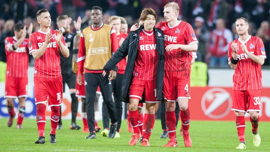 Der 1. FC Köln spielt in der Europa League gegen den FC Arsenal.