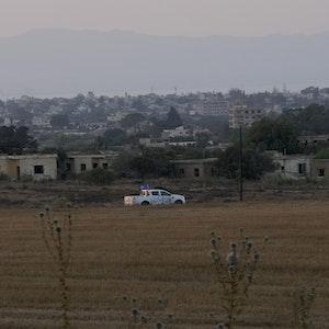 Ein Blick auf die Geisterstadt Varosha auf Zypern. Das Foto wurde am 19. Juli 2021 aufgenommen.