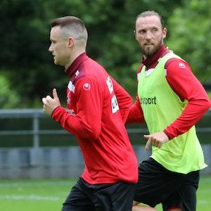 Christian Clemens und Marco Höger trainieren bei der U21 des 1. FC Köln.