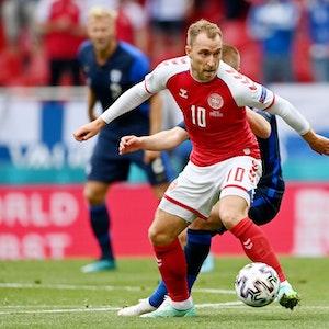 Christian Eriksen am Ball
