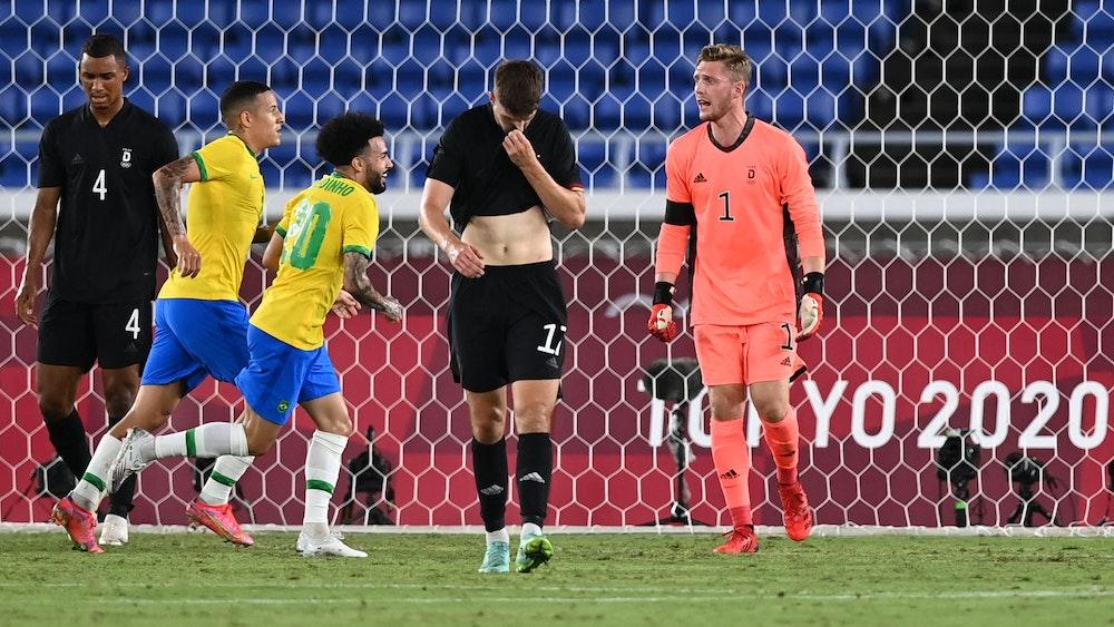Brasilien jubelt im Olympia-Duell am 22. Juli gegen Deutschland, die DFB-Kicker sind bedient.