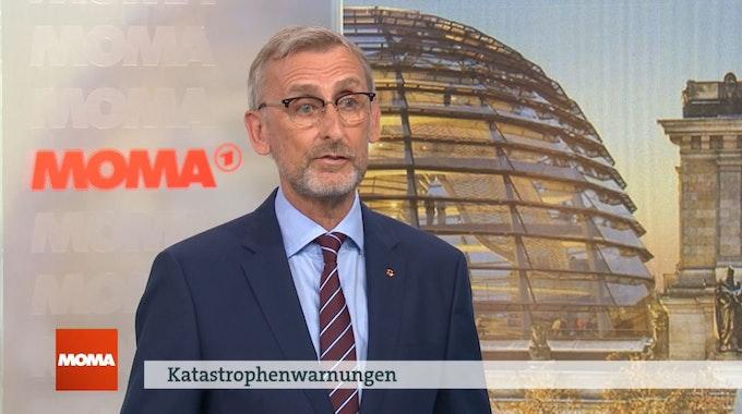 Armin Schuster, Präsident des Bundesamtes für Katastrophenschutz, spricht am 22. Juli 2021 im ARD Morgenmagazin über die Flutkatastrophe in NRW der Vorwoche