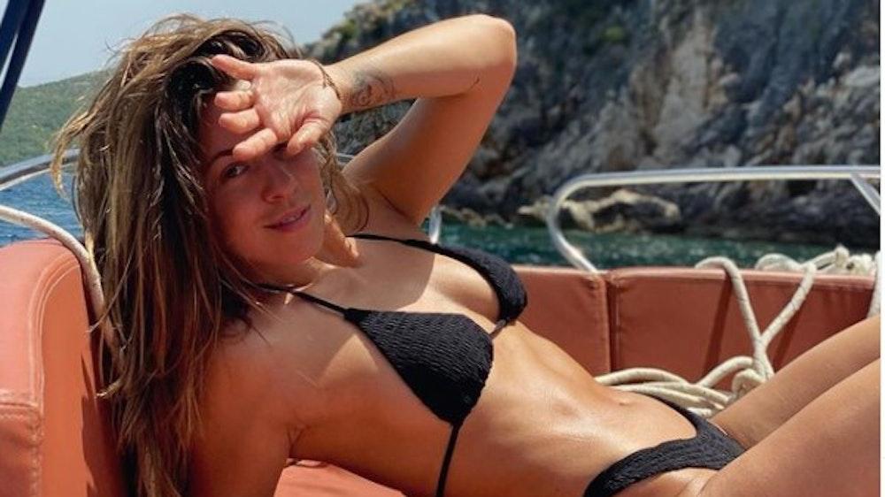 Sexy in schwarz: Dieses Bikini-Foto aus Kroatien postete Vanessa Mai am 29. Mai 2021 auf ihrem Instagram-Account