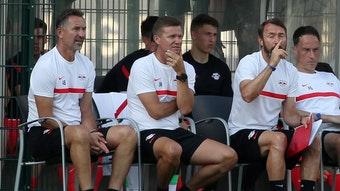 Jesse Marsch und sein Stab sahen eine Niederlage gegen Montpellier.
