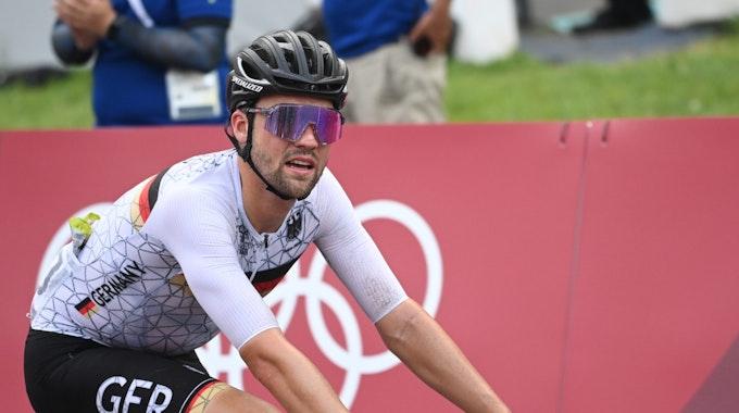 Maximilian Schachmann fährt im Olympischen Straßenrennen der Radfahrer.