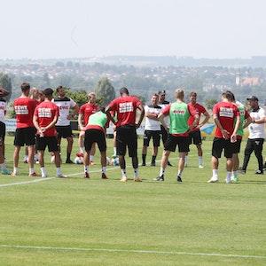 Der 1. FC Köln trainiert in Donaueschingen.