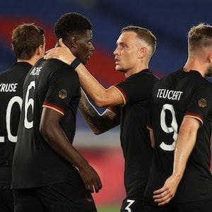 Deutschland bejubelt gegen Saudi-Arabien das zwischenzeitliche 2:1 durch Ragnar Ache.