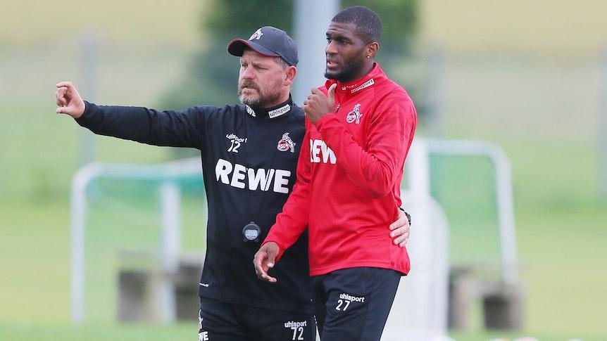Steffen Baumgart und Anthony Modeste im Trainingslager des 1. FC Köln.