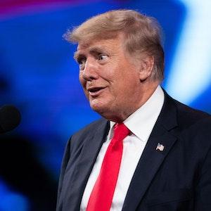 Ex-US-Präsident Donald Trump spricht auf einer Veranstaltung in Dallas.