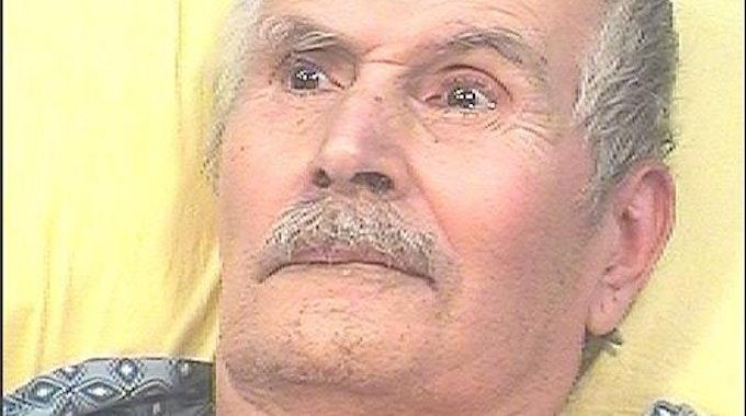 Das Gesicht des Serienkillers Rodney James Alcala.