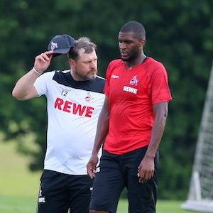 Steffen Baumgart und Anthony Modeste trainieren beim 1. FC Köln.