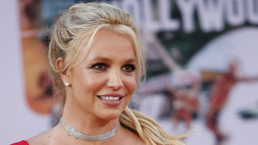 US pop star Britney Spears smiles at a film premiere in July 2019.